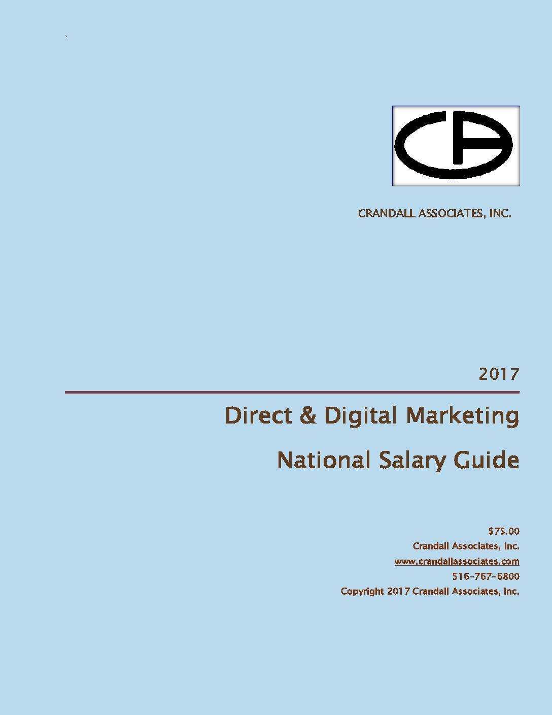 2017 Cover CAI Direct & Digital Marketing Salary Guide