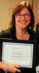 Digital Marketing Recruiter Wendy Weber or Crandall  Associates getting inducted tot he DMA hall of fame.