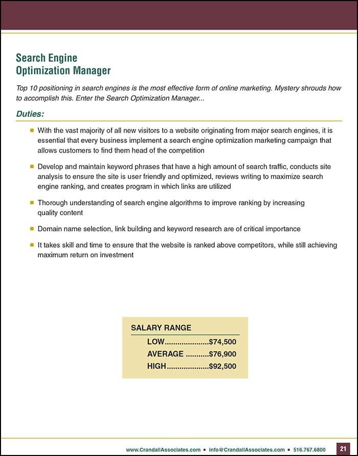 Digital Marketing Manager Position Description
